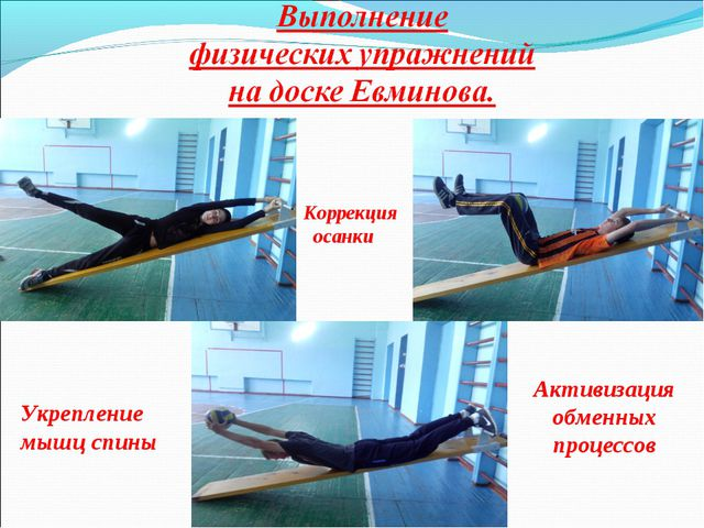 Коррекция осанки Укрепление мышц спины Активизация обменных процессов