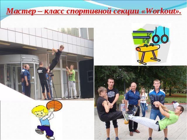 Мастер – класс спортивной секции «Workout».
