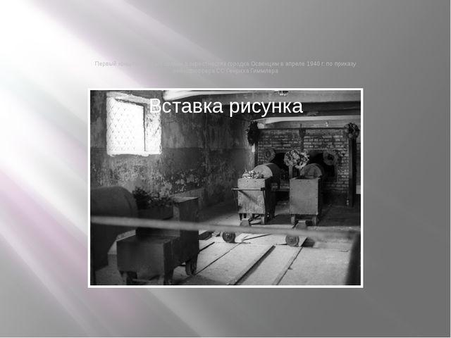 Первый концлагерь был создан в окрестностях городка Освенцим в апреле 1940 г....