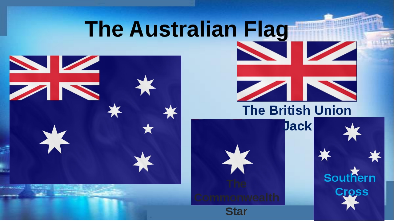 The Australian Flag The British Union Jack The Commonwealth Star Southern Cross
