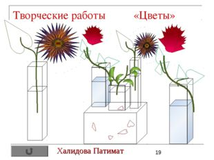 Творческие работы «Цветы» Халидова Патимат