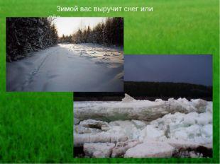 Зимой вас выручит снег или лёд.
