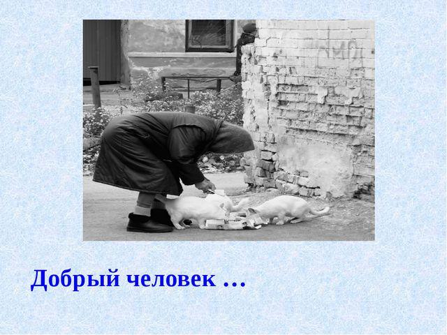 Добрый человек …