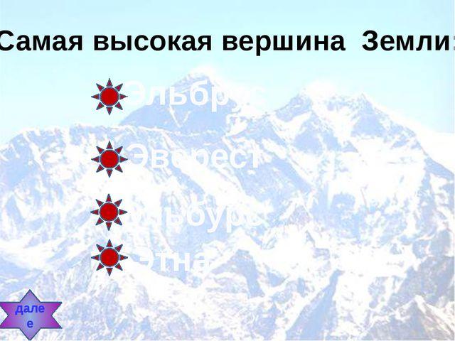 Самая высокая вершина Земли: Эльбрус Эверест Эльбурс Этна далее