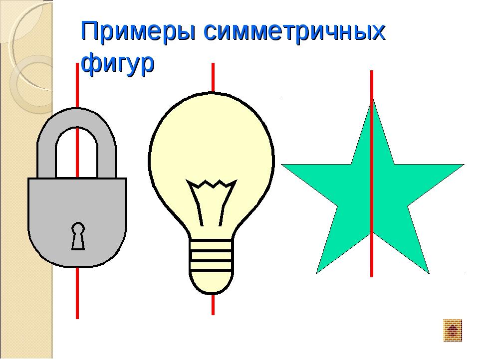 Примеры симметричных фигур