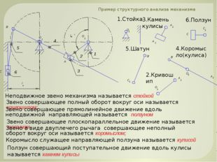 Пример структурного анализа механизма Звено совершающее плоскопараллельное дв