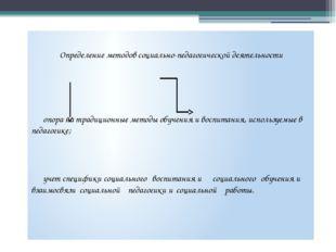 Определение методов социально-педагогической деятельности опора на традицио