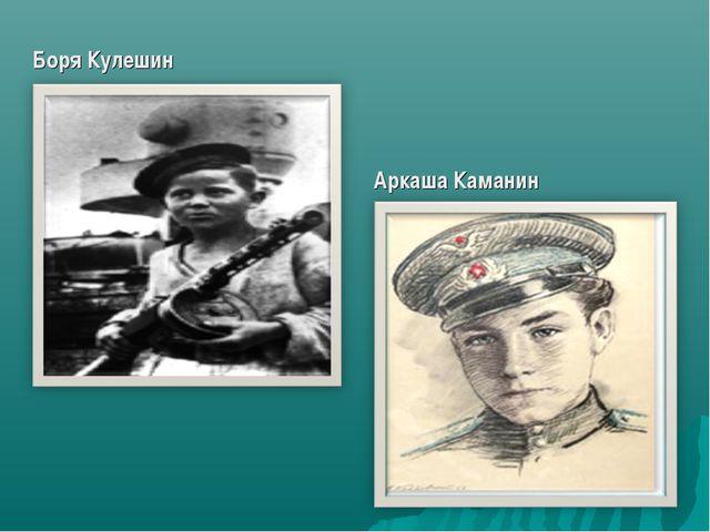 Боря Кулешин Аркаша Каманин