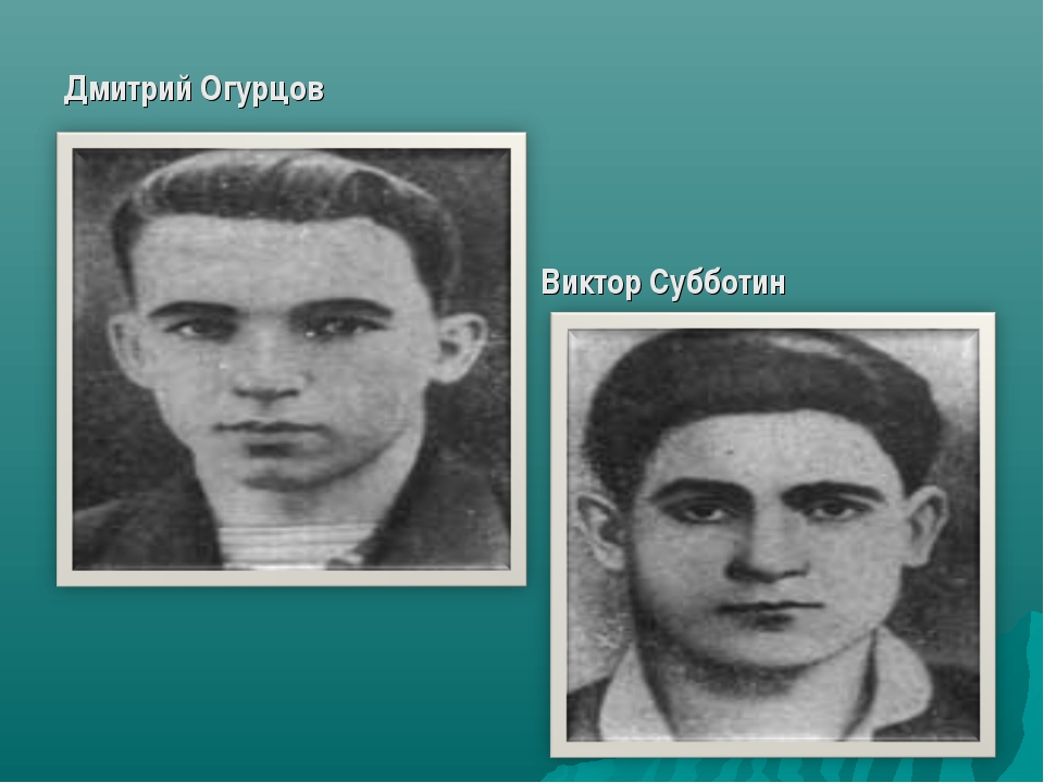 Дмитрий Огурцов Виктор Субботин