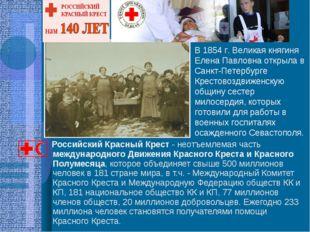 Российский Красный Крест - неотъемлемая часть международного Движения Красно