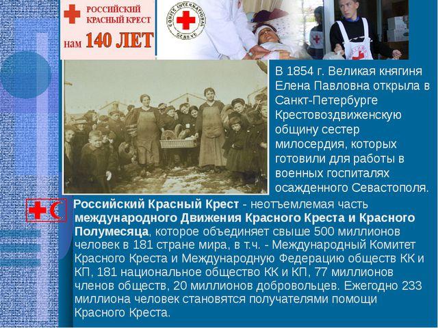 Российский Красный Крест - неотъемлемая часть международного Движения Красно...