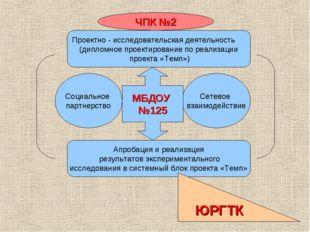 Социальное партнерство Сетевое взаимодействие МБДОУ №125 Проектно - исследова