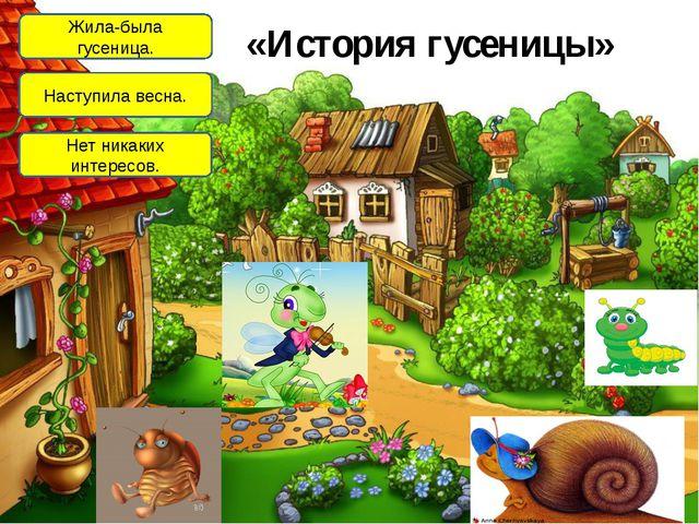 «История гусеницы» Жила-была гусеница. Наступила весна. Нет никаких интересов.