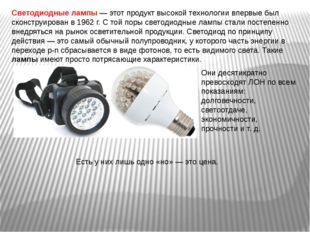 Светодиодные лампы — этот продукт высокой технологии впервые был сконструиров