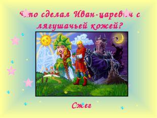 Что сделал Иван-царевич с лягушачьей кожей? Сжег