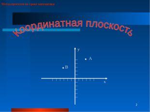 * Метод проектов на уроке математики х у А В