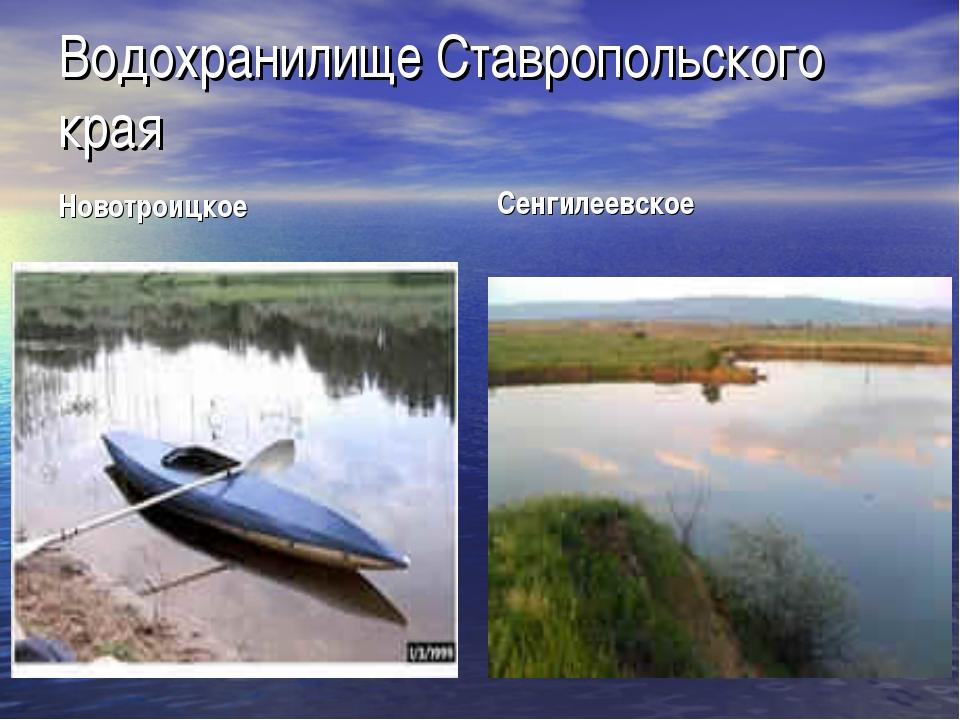 Водохранилище Ставропольского края Новотроицкое Сенгилеевское