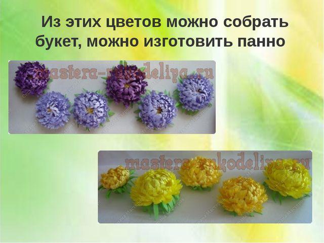 Из этих цветов можно собрать букет, можно изготовить панно