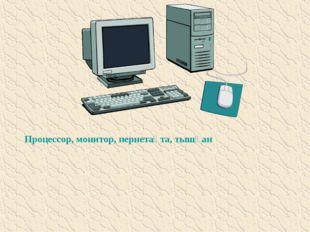 Процессор, монитор, пернетақта, тышқан