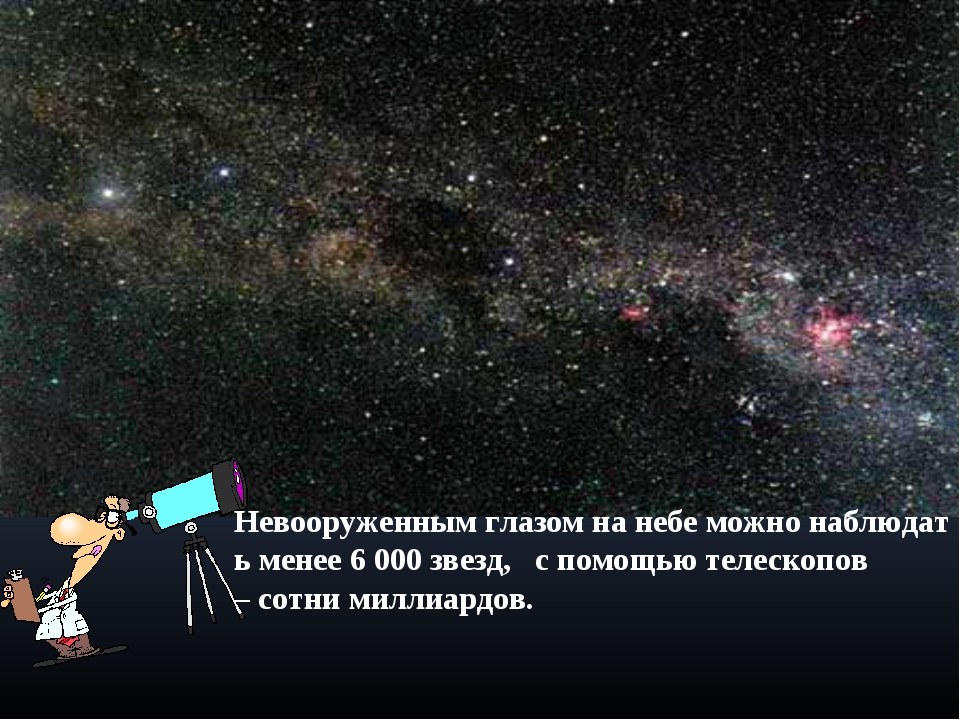Невооруженнымглазомнанебеможнонаблюдатьменее6 000 звезд,  спомощьют...