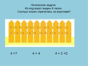 Логическая задача: Из-под ворот видны 8 лапок. Сколько кошек спрятались за во