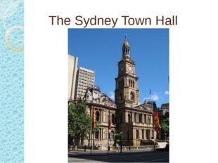 The Sydney Town Hall