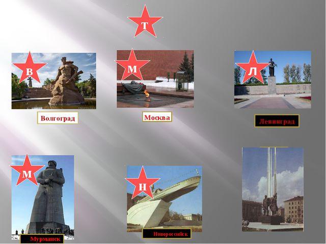Тула Тула м л в т м н Волгоград Москва Ленинград Мурманск Новороссийск