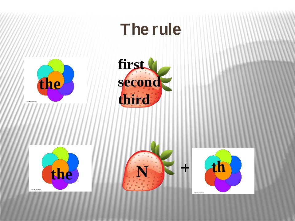 The rule + the the th first second third N
