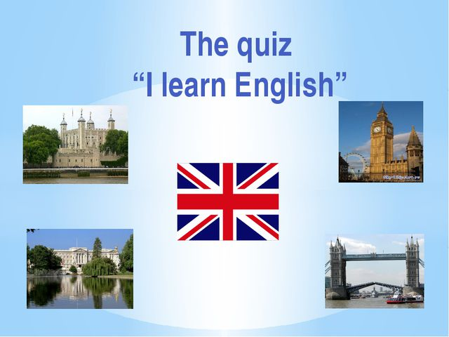 "The quiz ""I learn English"""