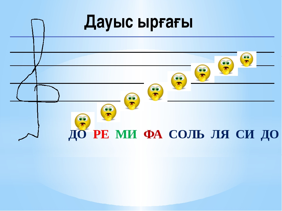 Дауыс ырғағы ДО РЕ МИ ФА СОЛЬ ЛЯ СИ ДО