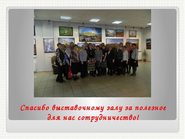 Спасибо выставочному залу за полезное для нас сотрудничество!