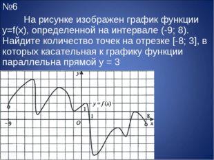 №6 На рисунке изображен график функции y=f(x), определенной на интервале (-9