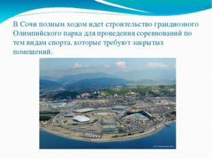 В Сочи полным ходом идет строительство грандиозного Олимпийского парка для пр