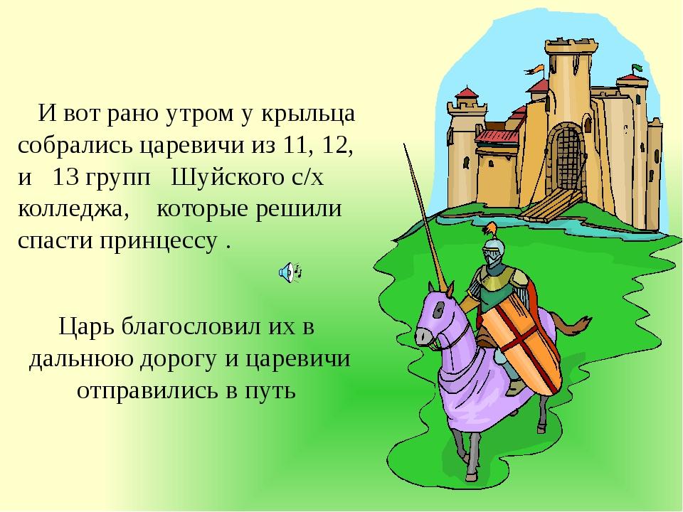 И вот рано утром у крыльца собрались царевичи из 11, 12, и 13 групп Шуйского...