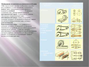 Изображение механизмов на кинематической схеме Одно или несколько жестко соед