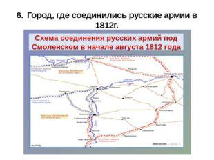 6.Город, где соединились русские армии в 1812г.