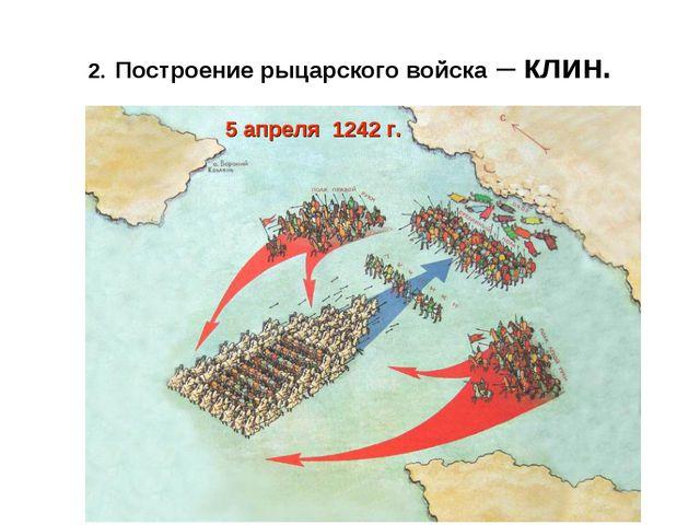 2.Построение рыцарского войска – клин.