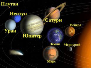 Юпитер Сатурн Уран Нептун Плутон Меркурий Венера Земля Марс