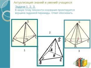 Основанием пирамиды служит равносторонний треугольник со стороной 8см, одна и