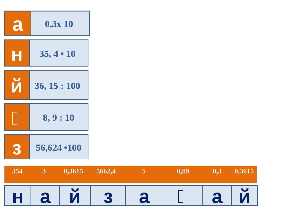 н а й з а ғ а й а 0,3x 10 35430,36155662,430,890,30,3615