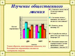 Изучение общественного мнения Таким образом, анкетирование показало, что боль