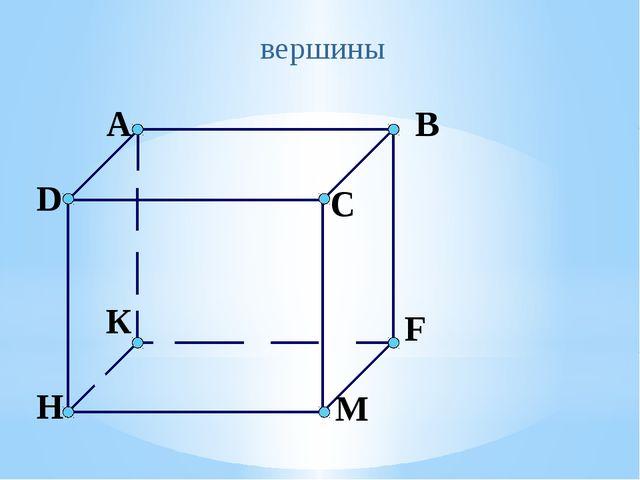 вершины A B C D К F М H