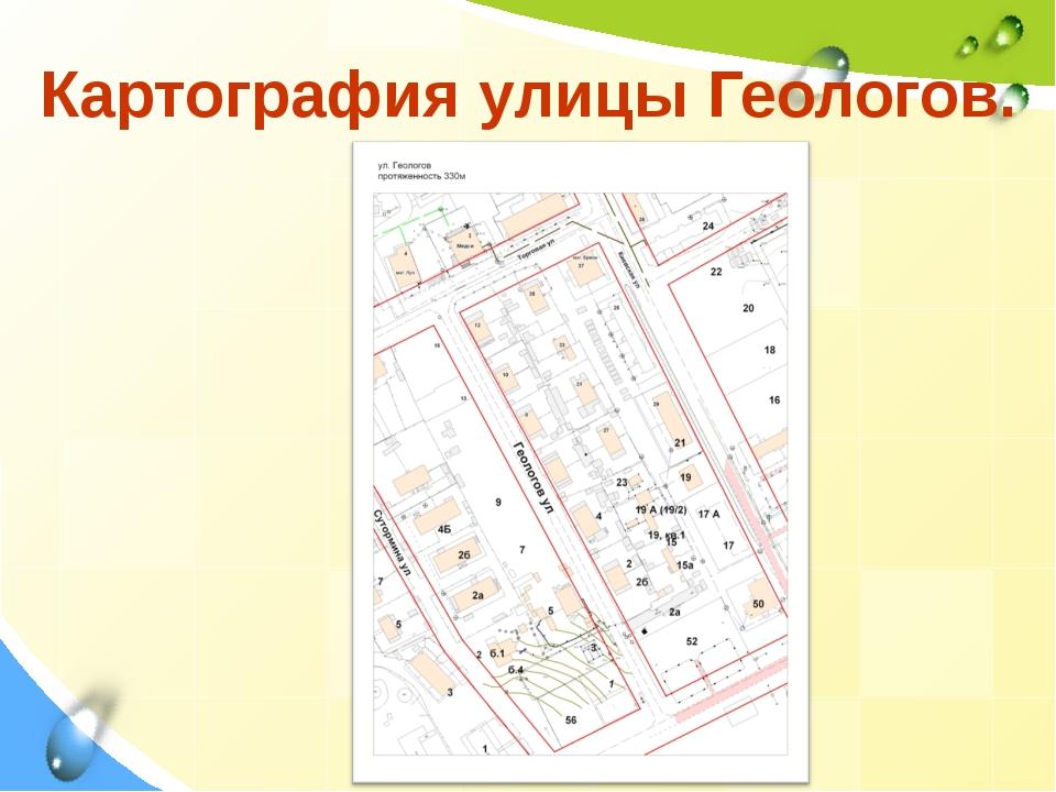 Картография улицы Геологов.