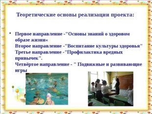 """Теоретические основы реализации проекта: Первое направление -""""Основы знаний о"""
