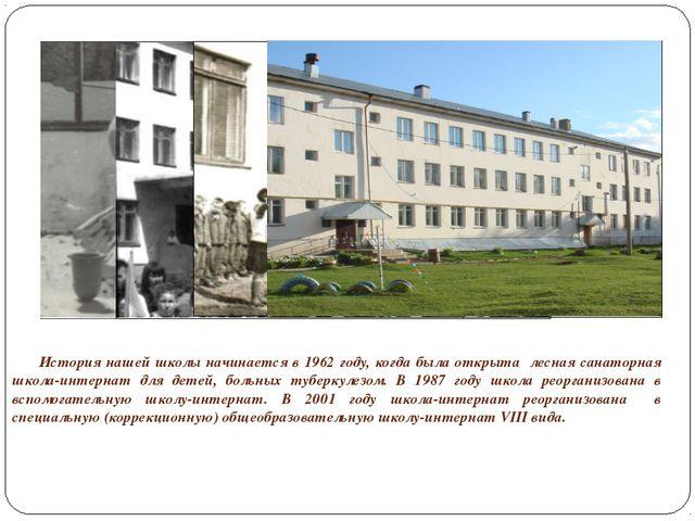 История нашей школы начинается в 1962 году, когда была открыта лесная сана...