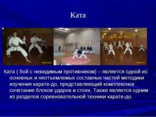 Ката Ката ( бой с невидимым противником) – является одной из основных и неотъ