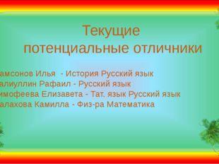Самсонов Илья - История Русский язык Халиуллин Рафаил - Русский язык Тимофе
