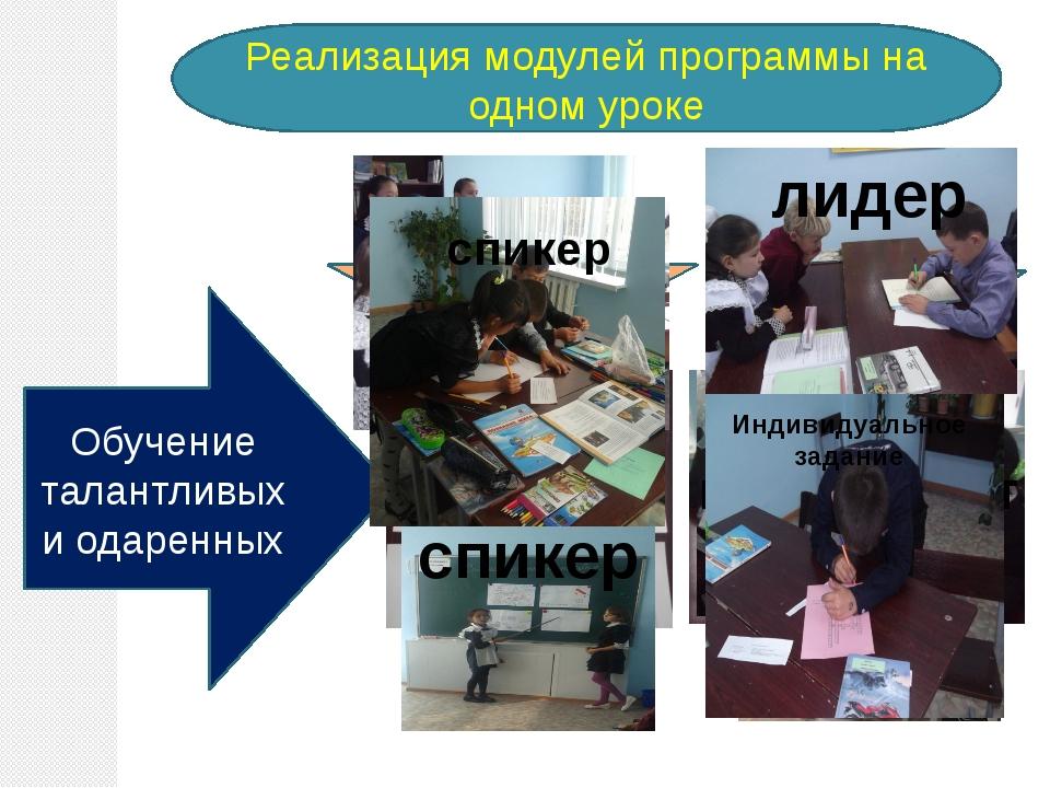 Реализация модулей программы на одном уроке Оценивание для обучения, оцениван...