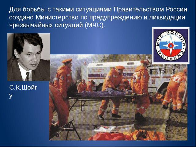 Для борьбы с такими ситуациями Правительством России создано Министерство по...