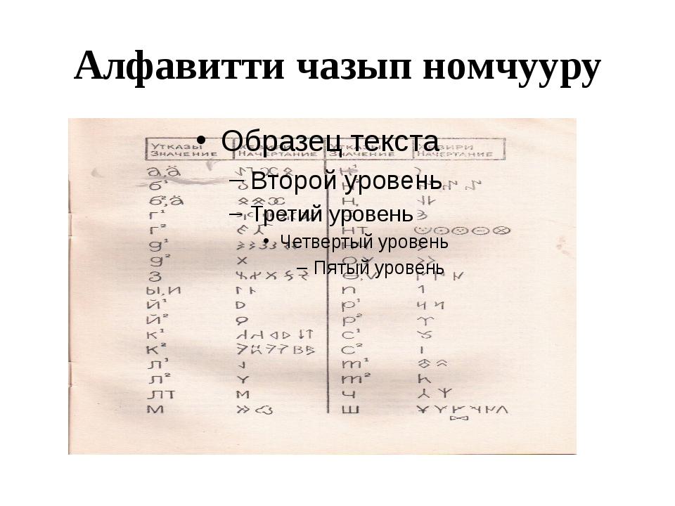 Алфавитти чазып номчууру